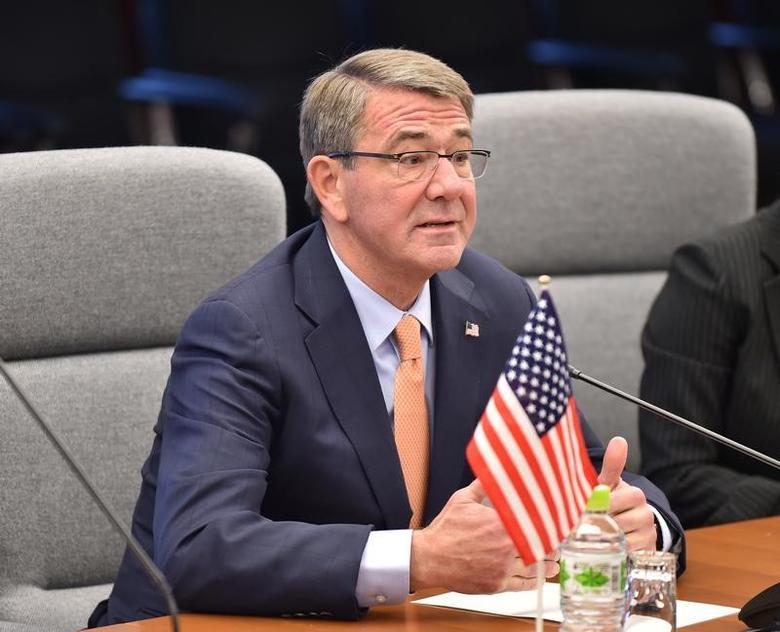 U.S. Defense Secretary Ash Carter attends a meeting with Japan's Defense Minister Tomomi Inada at the Defense Ministry in Tokyo, Japan, December 7, 2016.   REUTERS/Kazuhiro Nogi/Pool