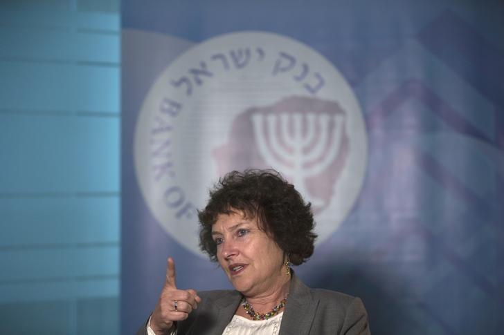 Bank of Israel Governor Karnit Flug speaks during an interview with Reuters at her office in Jerusalem October 28, 2015. REUTERS/Ronen Zvulun/Files