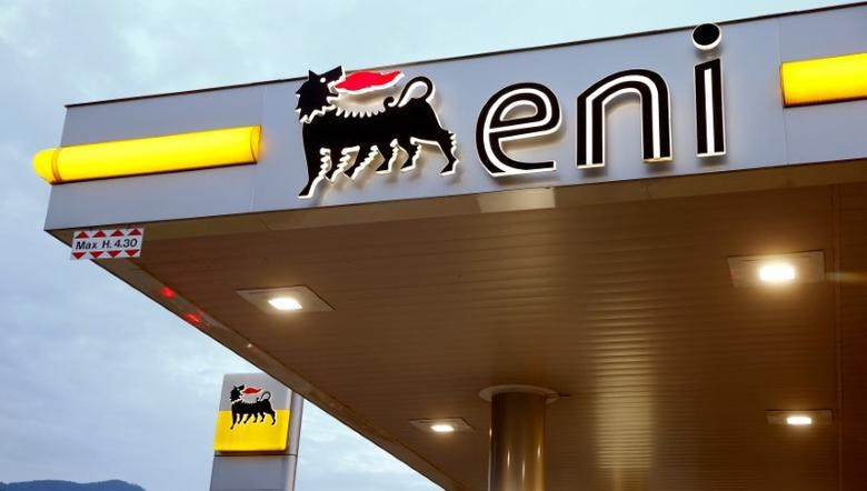 The logo of Italian energy company Eni is seen at an Agip gas station in Lugano, Switzerland June 3, 2016.  REUTERS/Arnd Wiegmann/File Photo                  GLOBAL BUSINESS WEEK AHEAD PACKAGE - SEARCH 'BUSINESS WEEK AHEAD 24 OCT'  FOR ALL IMAGES - RTX2Q531