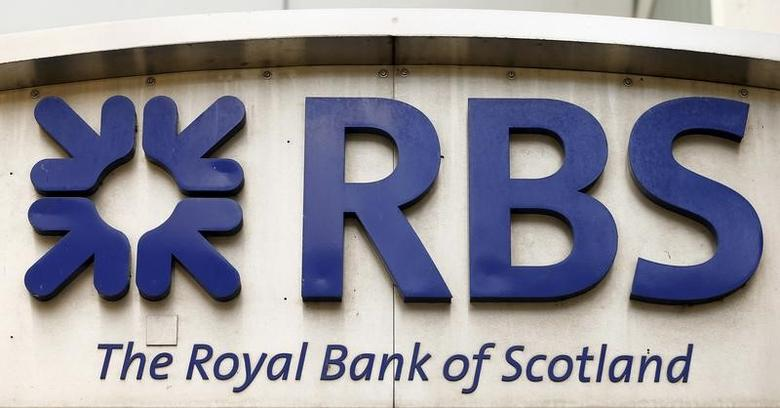 The logo of the Royal Bank of Scotland (RBS) is seen at an office building in Zurich March 27, 2015. REUTERS/Arnd Wiegmann/File Photo