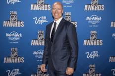 Jun 22, 2016; Las Vegas, NV, USA; New York Rangers general manager Mark Messier walks the red carpet during the 2016 NHL Awards at Hard Rock Hotel and Casino. Mandatory Credit: Joshua Dahl-USA TODAY Sports