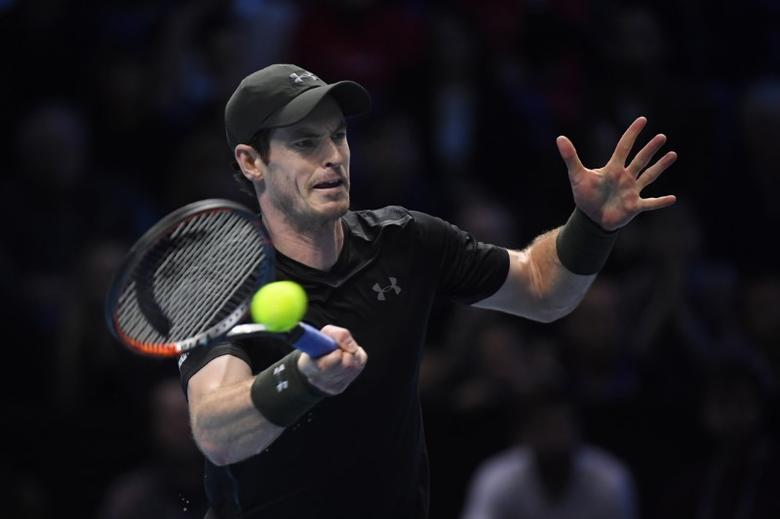Tennis Britain - Barclays ATP World Tour Finals - O2 Arena, London - 20/11/16 Great Britain's Andy Murray in action during the final against Serbia's Novak Djokovic Reuters / Toby Melville Livepic