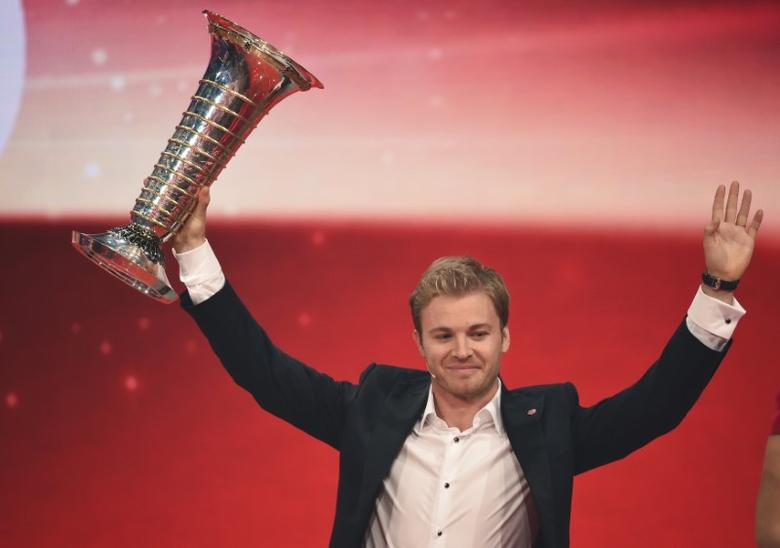 Mercedes' Formula One World Champion Nico Rosberg during the ''Ein Herz fuer Kinder'' (A Heart for Children) TV charity telethon in Berlin, Germany December 3, 2016. REUTERS/Britta Pedersen/Pool
