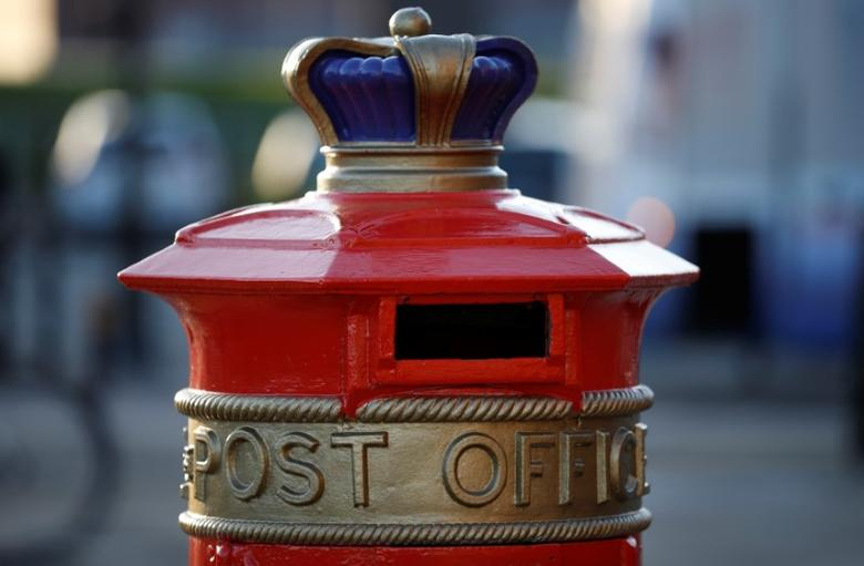An ornate Royal Mail post box with Post Office written on it in Liverpool, Britain, November 24, 2016. REUTERS/Phil Noble
