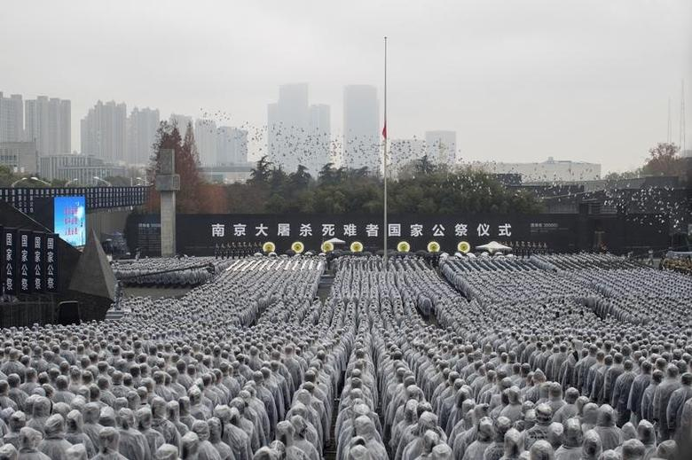 China holds memorial ceremony to mark the National Memorial Day for Nanjing Massacre Victims in Nanjing, Jiangsu province, China, December 13, 2016. REUTERS/Stringer