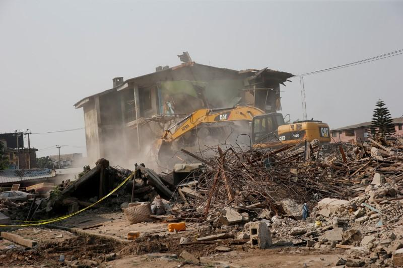 Two die as police building collapses in Nigeria's megacity Lagos - Reuters