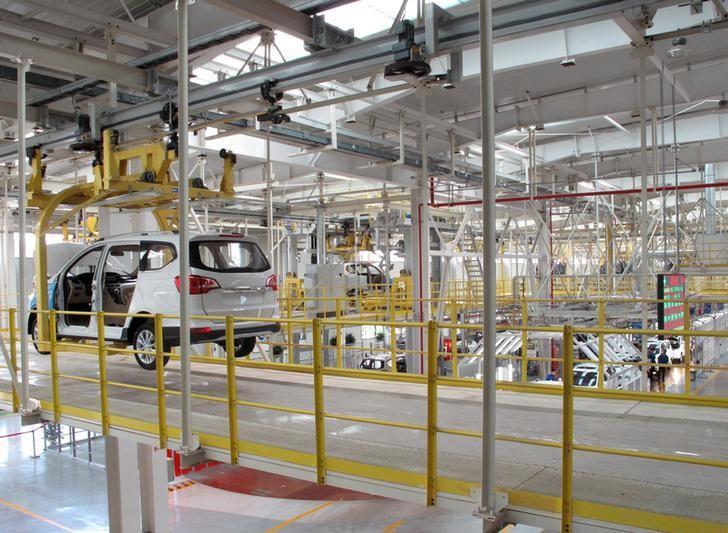 A production line is seen inside a factory of Saic GM Wuling, in Liuzhou, Guangxi Zhuang Autonomous Region, China, June 19, 2016. REUTERS/Norihiko Shirouzu/Files