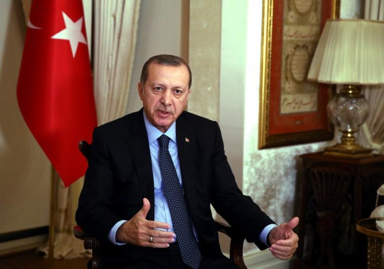 Turkish President Tayyip Erdogan talks during an interview in Istanbul, Turkey, December 19, 2016. Yasin Bulbul/Presidential Palace/Handout via REUTERS