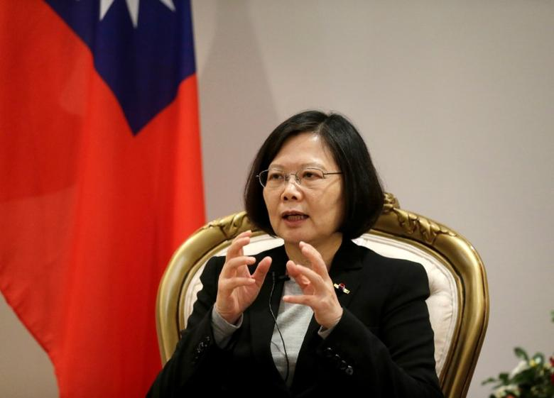 Taiwan's President Tsai Ing-wen speaks during a interview in Luque, Paraguay, June 28, 2016. REUTERS/Jorge Adorno