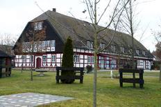 "An outside view of the equestrian sports farm ""Reitsportanlage Jaegerhof"" in Biblis, Germany, December 19, 2016. REUTERS/Ralph Orlowski"