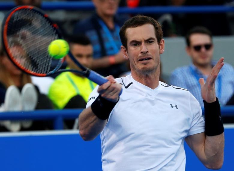 Tennis - Mubadala World Tennis Championship - Britain's Andy Murray v David Goffin of Belgium- Abu Dhabi, UAE - 30/12/16 Britain's Andy Murray in action. REUTERS/Ahmed Jadallah