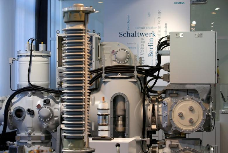 High voltage switch gear is seen in a show room of German industrial group Siemens in Berlin, Germany, April 21, 2016.     REUTERS/Fabrizio Bensch