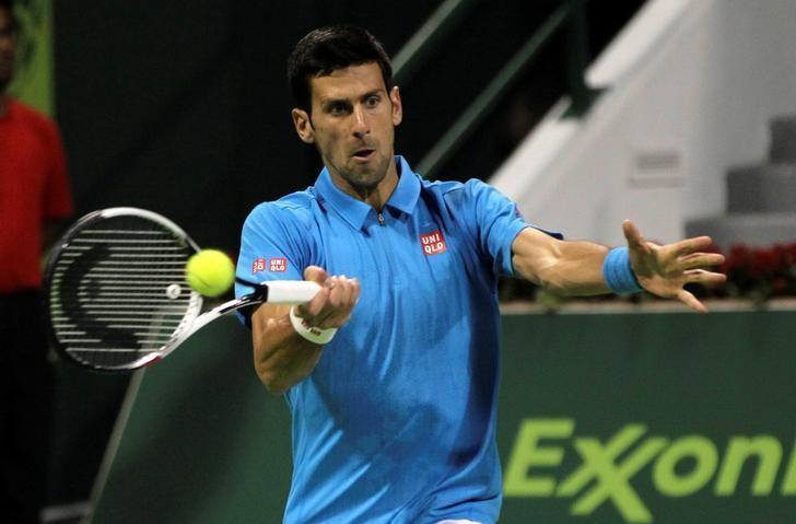 Tennis - Qatar Open - Men's Singles - Jan-Lennard Struff of Germany v Novak Djokovic of Serbia - Doha, Qatar - 2/1/2017 - Djokovic in action. REUTERS/Ibraheem Al Omari
