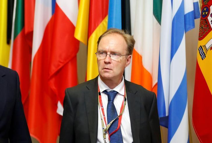 Britain's ambassador to the European Union Ivan Rogers is pictured leaving the EU Summit in Brussels, Belgium, June 28, 2016. REUTERS/Francois Lenoir/Files
