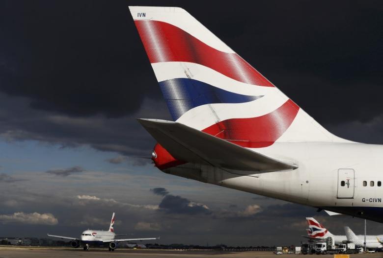 British Airways aircraft taxi at Heathrow Airport near London, Britain October 11, 2016. REUTERS/Stefan Wermuth/File Photo