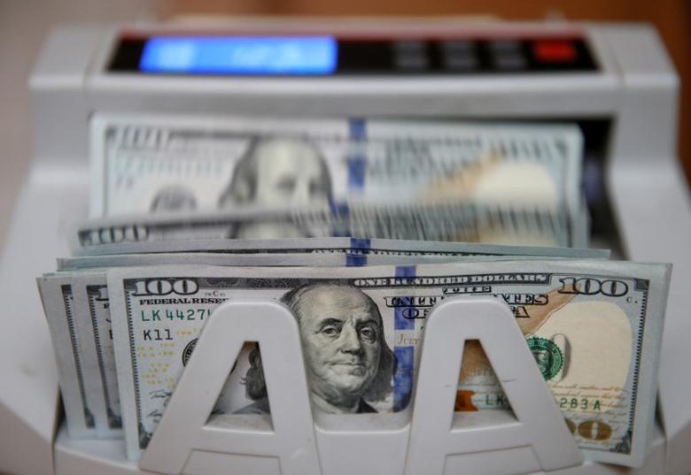 A money counter counts 100 U.S dollar banknotes in Kiev, Ukraine, October 31, 2016.  REUTERS/Valentyn Ogirenko