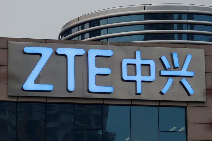 The company name of ZTE is seen outside the ZTE R&D building in Shenzhen, China April 27, 2016.      REUTERS/Bobby Yip/File Photo