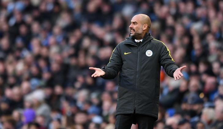 Manchester City manager Pep Guardiola.  Reuters / Anthony Devlin Livepic