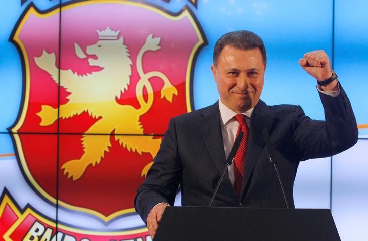 Leader of Macedonian ruling party VMRO-DPMNE and former Prime Minister Nikola Gruevski addresses the media in Skopje, Macedonia, December 12, 2016. REUTERS/Ognen Teofilovski/Files