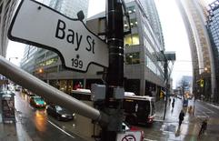 A Bay Street sign, the main street in the financial district is seen in Toronto, January 28, 2013. REUTERS/Mark Blinch