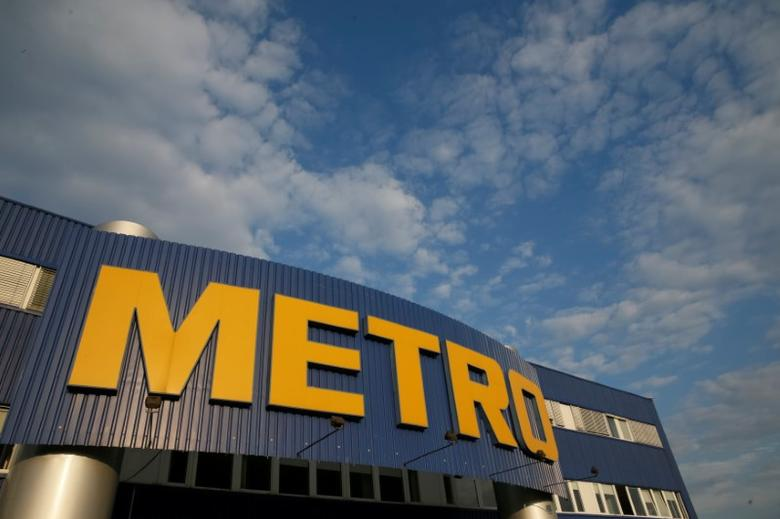The logo of German retailer Metro is seen on its cash and carry store in Kiev, Ukraine, August 17, 2016.  REUTERS/Valentyn Ogirenko