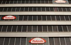 Takeda Pharmaceutical, le premier groupe pharmaceutique japonais dirigé par le Français Christophe Weber, a dit mardi avoir les moyens de procéder à d'autres acquisitions après celle annoncée la veille du spécialiste américain de l'oncologie Ariad Pharmaceuticals. /Photo d'archives/REUTERS/Arnd Wiegmann