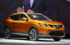 The 2017 Nissan Rogue Sport is displayed during the North American International Auto Show in Detroit, Michigan, U.S., January 9, 2017.  REUTERS/Rebecca Cook - RTX2Y6SJ