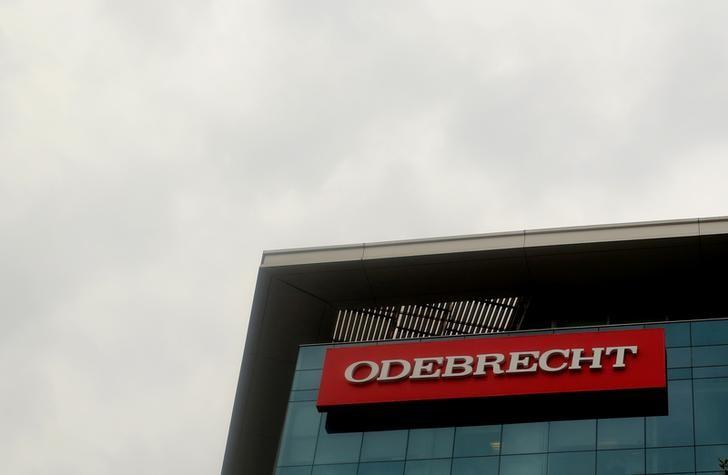 A sign of the Odebrecht  Brazilian construction conglomerate is seen at their headquarters in Lima, Peru, January 5, 2017. REUTERS/Mariana Bazo