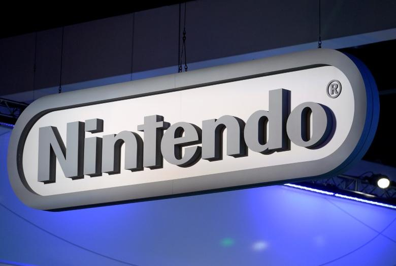 Nintendo signage is displayed at the company's booth at the 2014 Electronic Entertainment Expo, known as E3, in Los Angeles, California June 11, 2014.   REUTERS/Kevork Djansezian/File Photo