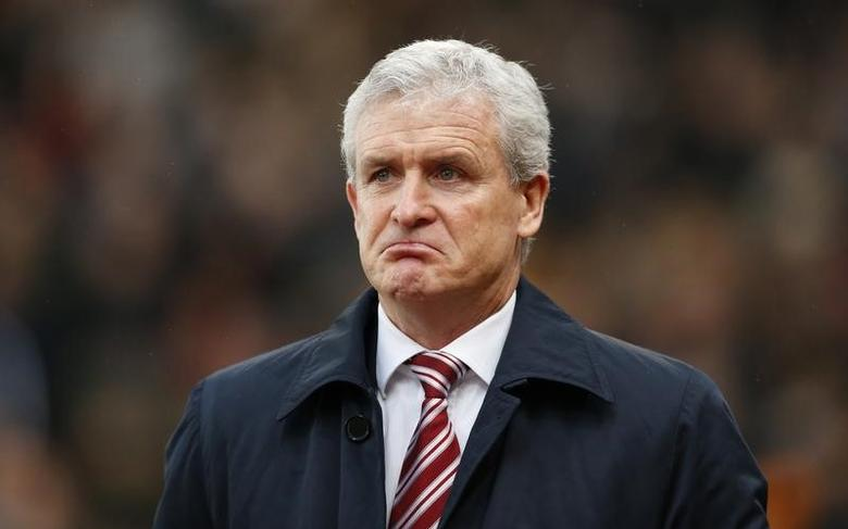 Stoke City manager Mark Hughes before the match Action Images via Reuters / Andrew Boyers