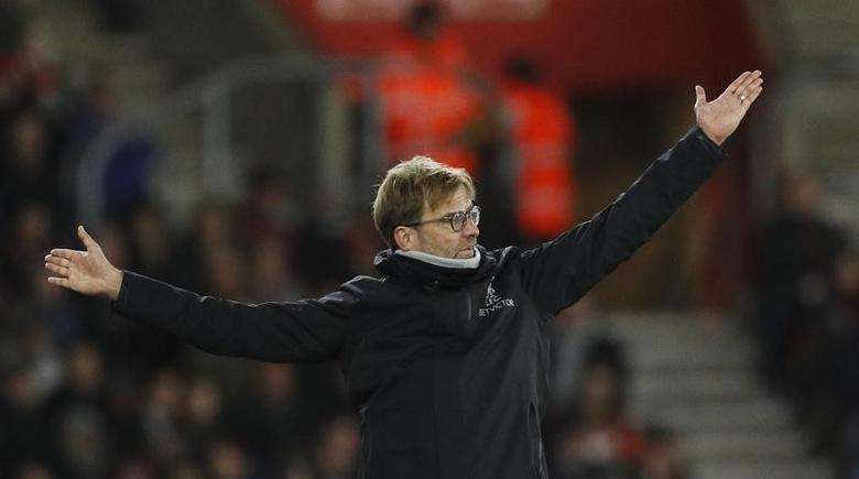 Britain Football Soccer - Southampton v Liverpool - EFL Cup Semi Final First Leg - St Mary's Stadium - 11/1/17 Liverpool manager Juergen Klopp  Action Images via Reuters / John Sibley Livepic