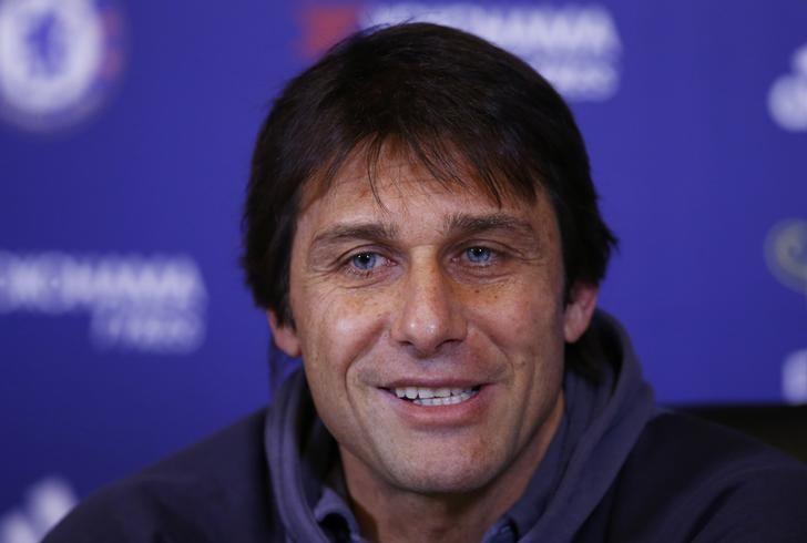 Britain Football Soccer - Chelsea - Antonio Conte Press Conference - Chelsea Training Ground - 13/1/17 Chelsea manager Antonio Conte during the press conference Action Images via Reuters / Peter Cziborra Livepic