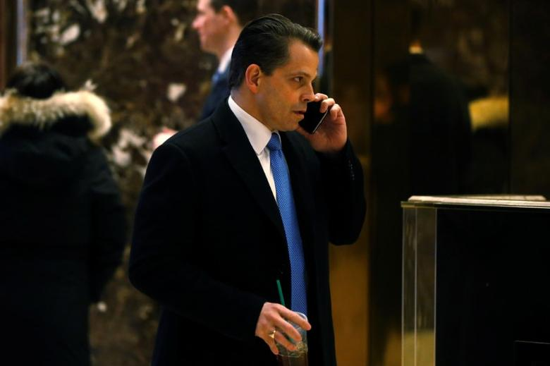 SkyBridge Capital Managing Partner Anthony Scaramucci, a member of U.S. President-elect Donald Trump's transition team, arrives at Trump Tower in New York, U.S., January 5, 2017.  REUTERS/Brendan McDermid - RTX2XOQD