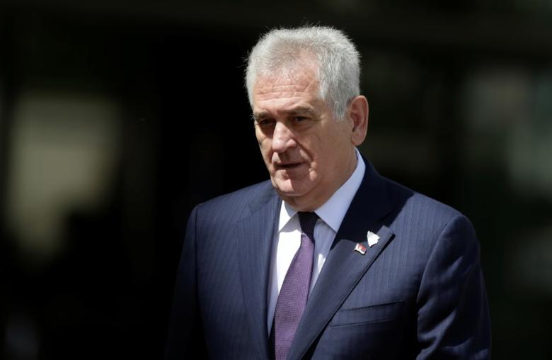 FILE PHOTO - Serbia's President Tomislav Nikolic arrives for the Brdo-Brioni Process meeting, a gathering of political leaders from the Western Balkans, in Sarajevo, Bosnia and Herzegovina May 29, 2016. REUTERS/Dado Ruvic