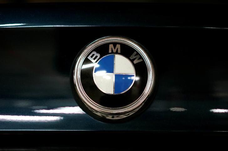 A view shows the logo of BMW on a car in Moscow, Russia, July 6, 2016. REUTERS/Maxim Zmeyev