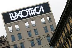 FILE PHOTO: The Luxottica's headquarters is seen in downtown Milan, February 1, 2016. REUTERS/Stefano Rellandini/File photo