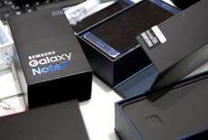 Samsung Electronics présentera le 23 janvier les résultats de l'enquête menée sur la combustion intempestive de certains de ses smartphones Galaxy Note 7, a annoncé vendredi le groupe sud-coréen qui tente de se remettre de l'un des plus retentissants échecs industriels du secteur technologique. /Photo d'archives/REUTERS/Kim Hong-Ji