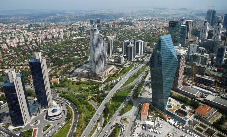 Bussiness and financial district of Levent, which comprises leading Turkish companies' headquarters and popular shopping malls, is seen from the Sapphire Tower in Istanbul, Turkey May 3, 2016. REUTERS/Murad Sezer/File Photo