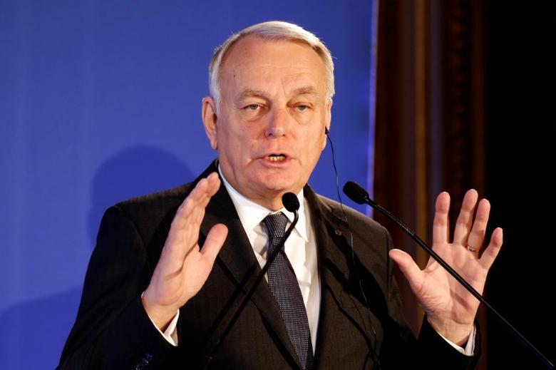 France's Foreign Minister Jean-Marc Ayrault speaks during a news conference at the Quai d'Orsay in Paris, France, December 20, 2016.   REUTERS/Charles Platiau - RTX2VVQQ