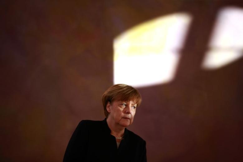 German Chancellor Angela Merkel at Bellevue Castle in Berlin, Germany January 27, 2017.     REUTERS/Axel Schmidt