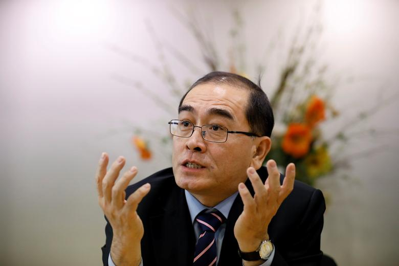 Thae Yong Ho, North Korea¡¯s former deputy ambassador in London who defected to the South, speaks during an interview with Reuters in Seoul, South Korea, February 3, 2017. REUTERS/Kim Hong-Ji