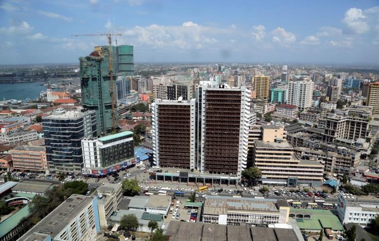 FILE PHOTO: The skyline of Tanzania's port city of Dar es Salaam, July 12, 2013. REUTERS/Andrew Emmanuel/File Photo