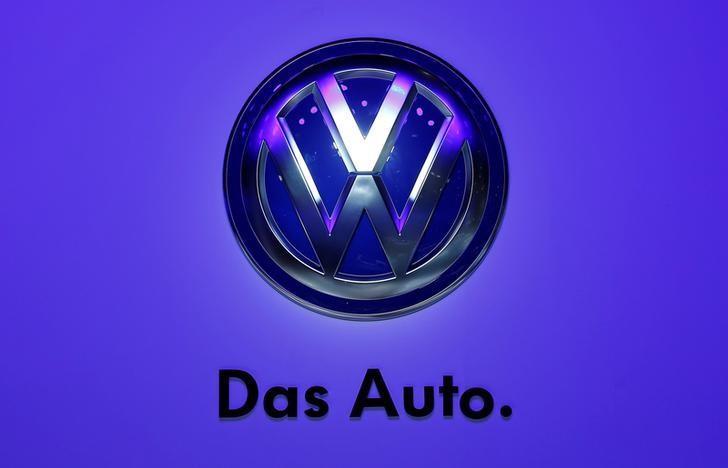 FILE PHOTO:  The Volkswagen logo is seen at the Frankfurt Motor Show (IAA) in Frankurt, Germany, September 10, 2013.     REUTERS/Pawel Kopczynski/File Photo