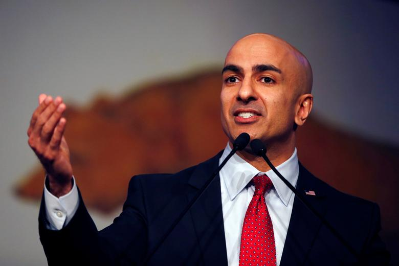 FILE PHOTO - California Republican gubernatorial primary candidate Neel Kashkari speaks on stage during the California Republican Party Spring Convention in Burlingame, California, U.S. on March 16, 2014  REUTERS/Stephen Lam/File Photo