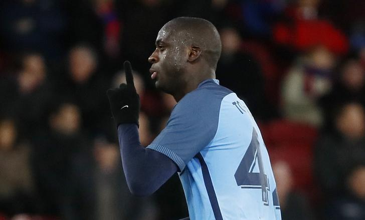 Britain Football Soccer - Crystal Palace v Manchester City - FA Cup Fourth Round - Selhurst Park - 28/1/17 Manchester City's Yaya Toure celebrates scoring their third goal  Reuters / Stefan Wermuth Livepic