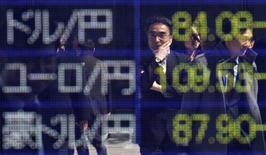La Bourse de Tokyo a fini jeudi en baisse de 0,53%. L'indice Nikkei a perdu 99,93 points à 18.907,67. /Photo d'archives/REUTERS/Toru Hanai