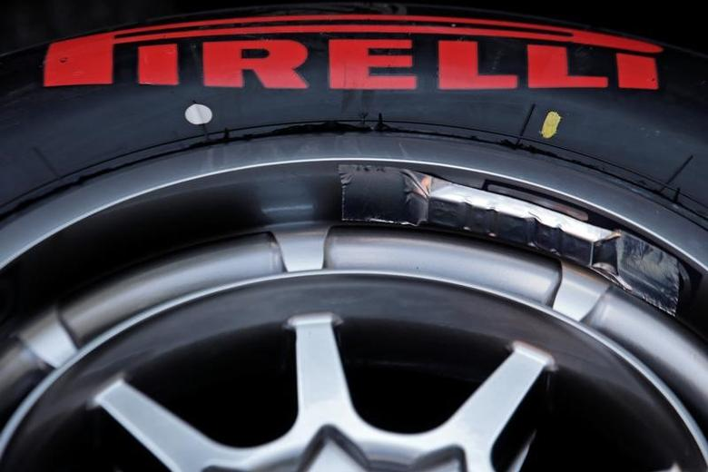 Italian Formula One - F1 - Italian Grand Prix 2016 - Monza, Italy - 01/9/16 - A Pirelli race tyre is seen during the Italian F1 Grand Prix. REUTERS/Max Rossi