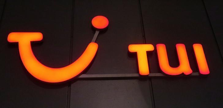 The logo of of German travel company TUI AG is seen outside of one of its branch offices in Vienna, Austria, December 27, 2016.    REUTERS/Leonhard Foeger