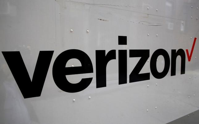 The Verizon logo is seen on the side of a truck in New York City, U.S., October 13, 2016.  REUTERS/Brendan McDermid