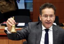 """La situation de la dette de la Grèce n'est pas celle d'une """"crise aigüe"""", a déclaré mardi Jeroen Dijsselbloem. /Photo prise le 7 novembre 2016/REUTERS/Yves Herman"""
